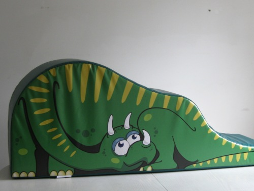 Dinosaur Slide  With his friendly face, it is great fun to slide down his tail